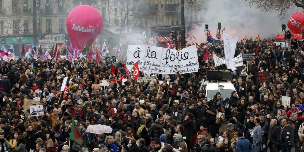 manifestation a la folie